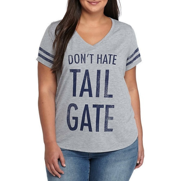c12d0dd44 True Craft Tops | Juniors Dont Hate Tailgate Graphic Tee | Poshmark